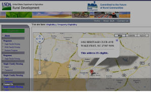 Heritage Wake Forest USDA Eligibility Map