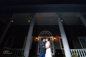 Soldier kissing his bride on fourth of July wedding 330am